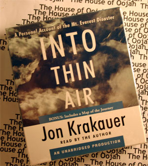 an analysis of the book into thin air by jon krakauers Selling book into thin air using krakauer's account as a backdrop jon krakauer was one of the survivors that day in order to devote the greatest time to the analysis of krakauer's book, it is assumed that the.
