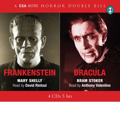 """Dracula"" and ""Frankenstein"" by Mary Wollstonecraft Shelley Audio Book CD"