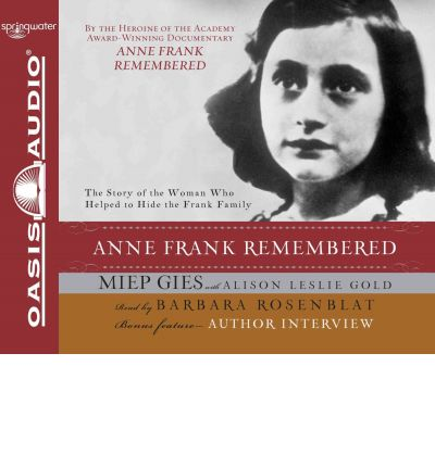 Anne Frank Remembered by Miep Gies AudioBook CD