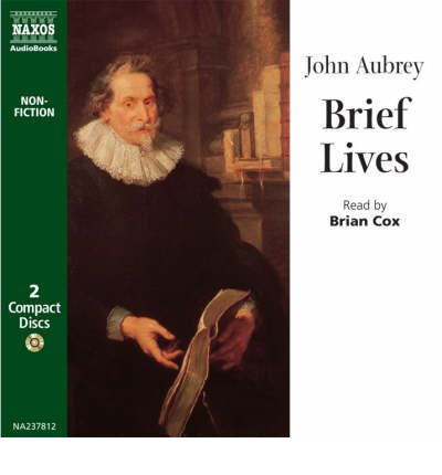 Brief Lives by John Aubrey AudioBook CD
