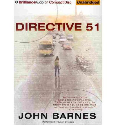 Directive 51 by John Barnes Audio Book CD