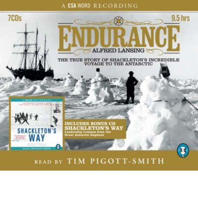 Endurance and Shackleton's Way by Alfred Lansing Audio Book CD