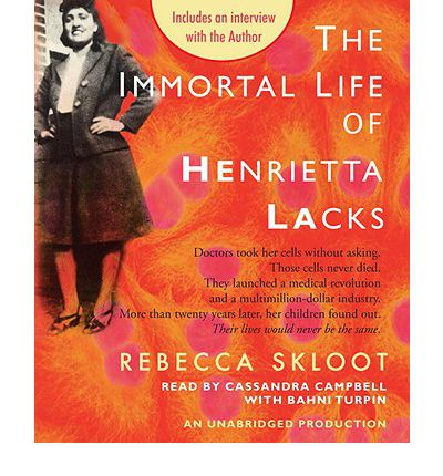 The Immortal Life of Henrietta Lacks by Rebecca Skloot AudioBook CD