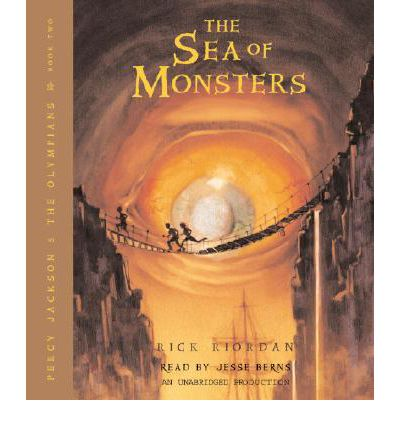 The Sea of Monsters by Rick Riordan AudioBook CD