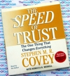 The Speed of Trust - Stephen M R Covey -  Audio Book CD